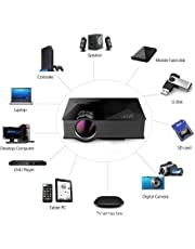 Smart Products UNIC UC46+ (Upgraded Version ) with USB/HDMI/VGA/WiFi Miracast DLNA Airplay 1200 lm LED Corded Portable Projector