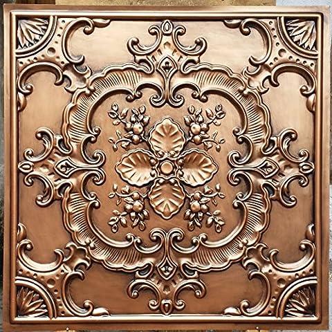 PL19 faux tin 3D ceiling tiles antique copper embossing photosgraphie background Decoration wall panels 10pieces/lot