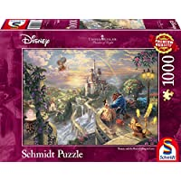 Schmidt Spiele 59475 - Thomas Kinkade, Disney Die Schöne und das Biest, Puzzle, 1000 teile
