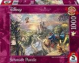 Schmidt Spiele 59475–Thomas Kinkade, Disney La Bella e la bestia, Puzzle, 1000pezzi immagine