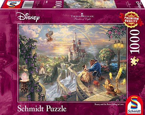Preisvergleich Produktbild Schmidt Spiele 59475 - Thomas Kinkade, Disney Die Schöne und Das Biest, Puzzle, 1000 Teile