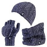 Heat Holders Damen Handschuh-Set Mehrfarbig mehrfarbig One size Gr. One size, Blue Marl