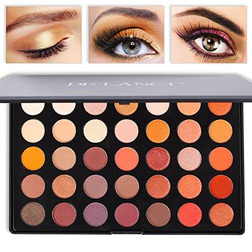 DE'LANCI Professional 35 Color Eyeshadow Palette Waterproof Makeup Eyeshadow Kit Set(35 Color)