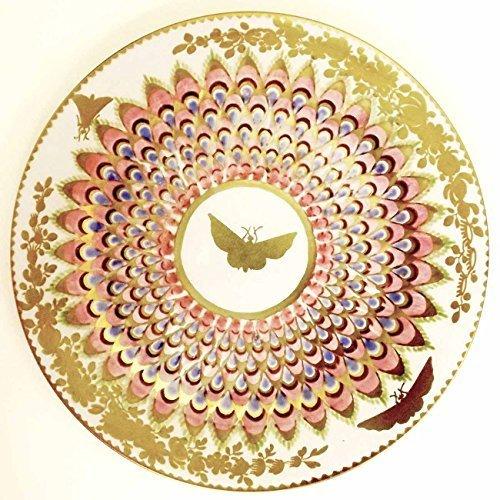 ashm olean Assiette Motif papillon, laqué, émail, pour pique-nique et camping, doré