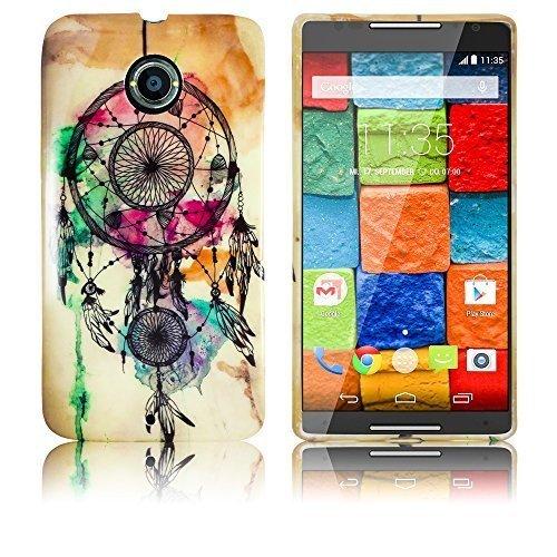 thematys Motorola Moto X 2. Generation Silikon Schutz-Hülle Traumfänger weiche Tasche Cover Case Bumper Etui Flip Smartphone Handy Backcover