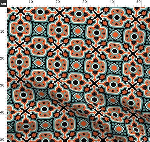 Renaissance, Türkisch, Islamisch, Persisch, Viktorianisch, Spanisch, Fliese Stoffe - Individuell Bedruckt von Spoonflower - Design von Muhlenkott Gedruckt auf Bio Musselin -