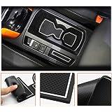 LFOTPP Compatibel met T-ROC Auto Styling Binnendeur Rubber Mat Bekerhouder Slot Pad Rubber Mats (White)