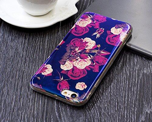 EKINHUI Case Cover Für Apple IPhone 6 u. 6s Fall, ultra dünnes helles Gewicht-Luxuxblau-Licht TPU Silikon-Gel-schützende rückseitige Abdeckung ( Color : G ) E