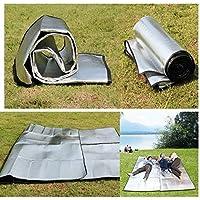 Calli Senderismo tienda de campaña estera cojín de la estera de picnic película de aluminio a prueba de humedad doble cara