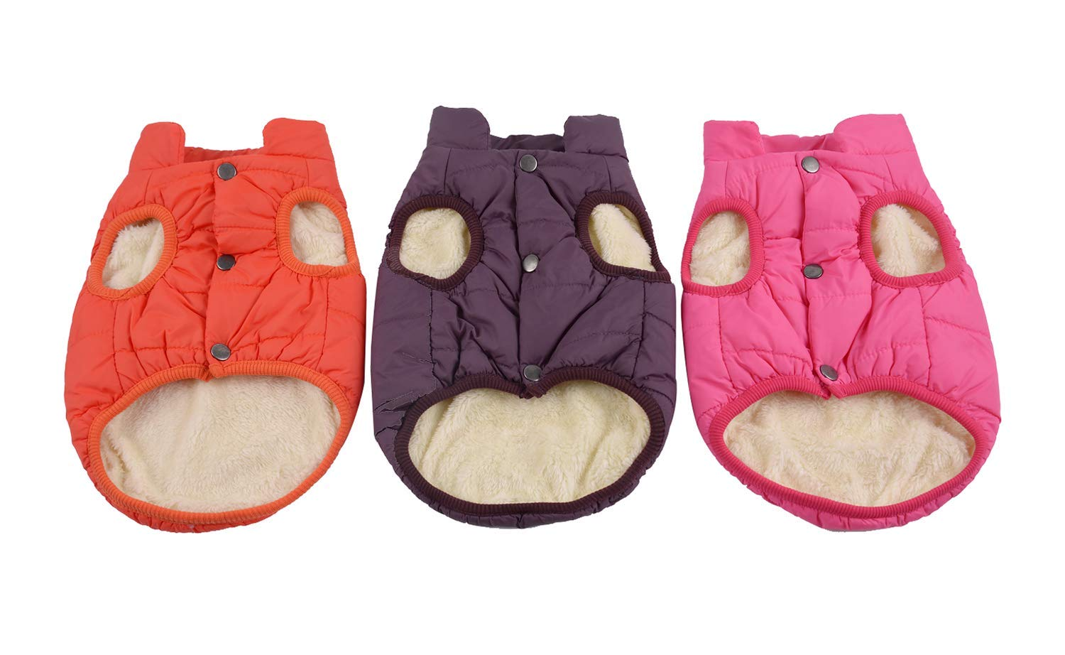 Kismaple Dog Cosy Fleece Jacket Winter Lined Coat Clothes Warm Padded for Small Medium Large Dogs 7