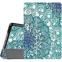 Fintie iPad mini 4 Funda - Ultra Slim Fit Smart Case Funda Carcasa con Stand Función y Auto-Sueño / Estela para Apple iPad mini 4 (2015 Versión), Emerald Illusions