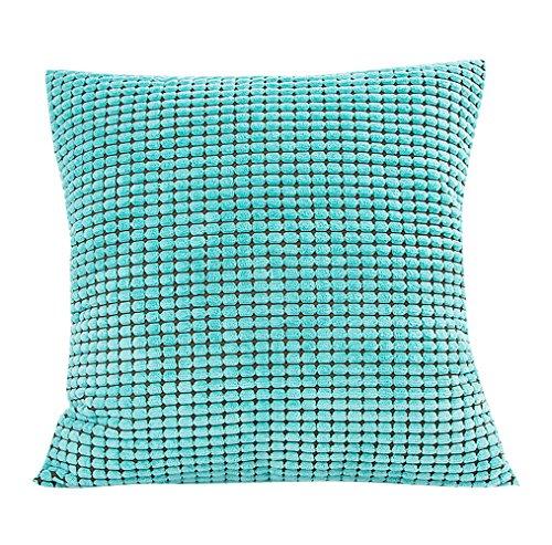 Funda de almohada, weant Pure Color Pana cintura Throw fundas de cojín 18x...