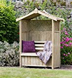 Zest4Leisure Dorset Arbour with Storage Box - FSC Certified Pressure Treated Wood