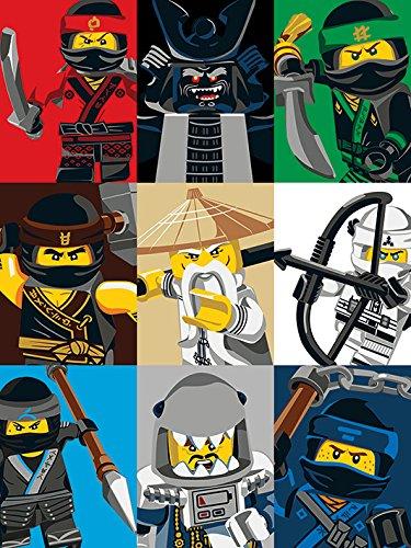 LEGO Leinwanddruck, Canvas, Mehrfarbig, 60 x 80 cm