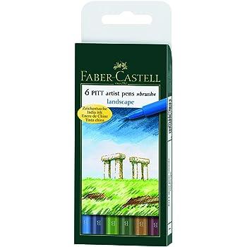 FABER-CASTELL PITT artist pen, 6er Etui - Landscape