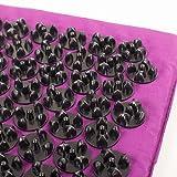 Akupressur-Set Deluxe XL soft, Aubergine: Akupressurmatte (130 x 50 cm) Akupressur-Fußmatte und -Kissen im günstigen Set, Entspannungsmatte, Fußreflexzonen-Massage -