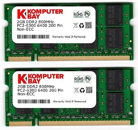 Komputerbay 4GB 2X 2GB DDR2 800MHz PC2-6300 PC2-6400 DDR2 800
