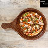 Worthy Shoppee Wooden 10 Inch Pizza Plate Or Board Or Racket Round