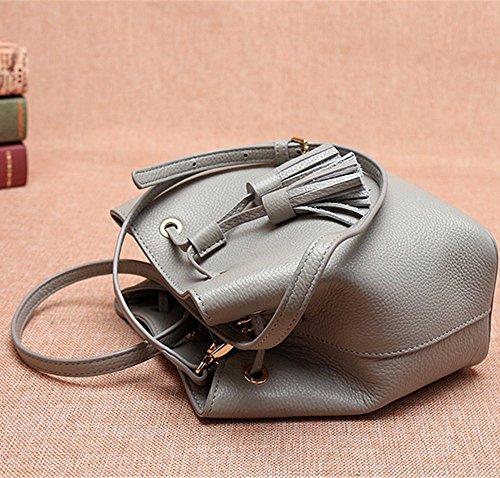 Womens Soft Borsette in pelle multicolor borsa a tracolla borse da viaggio,verde Grigio