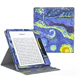 MoKo All-New Kindle Oasis Case (9ª Gen - modello 2017) - Copertura di Vibrazione Verticale Custodia con Funzione Auto Sveglia / Sonno per Nuovo Amazon Kindle Oasis E-reader, Notte Stellata