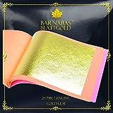Barnabas Echtes Blattgold Lose 23.75 Karat, 85 X 85mm, 25 Blätter in Blattsammlung