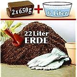 WENKO 7749500 coco-tierra - 2 x 650 G, gran rendimiento, coco-fibras isostático, 20,2 x 5,3 x 10,5 cm, marrón
