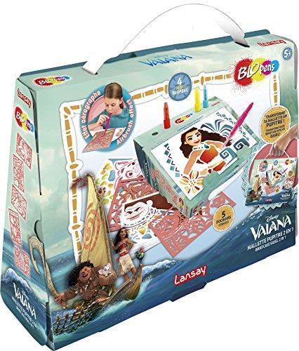 Lansay Disney Princess Blopens Mallette Pupitre 2 en 1 Vaiana, 23567