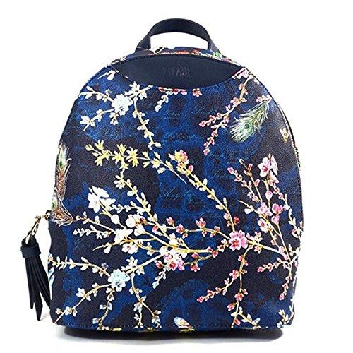Zaino piccolo   Alviero Martini 1^ Classe   Flower Garden Flash   22 x 25 x 12 cm - Blu
