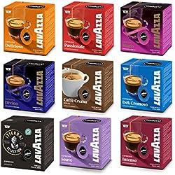 Luigi Lavazza A Modo Mio Lot de capsules à café découverte 9 saveurs
