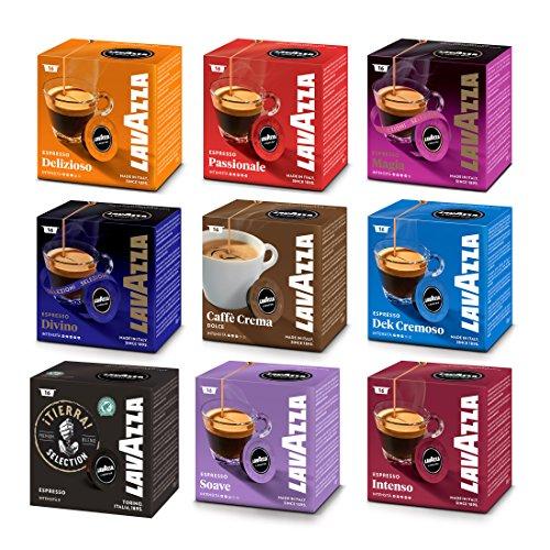 Lavazza A Modo Mio - Set de cápsulas de café de 9tipos