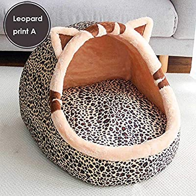 ZYZSYY Warm Puppy House For Small Dog Cat Sleeping Kennel Soft Home Pet Cats Bed Nest Washable Dogs Mat Pets Foldable House Bed by ZYZSYY