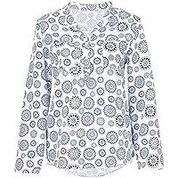 Tops Damen Oberteile DOLDOA Drucken Tupfen Knopf Sweatshirt Pullover Langarm T-Shirt