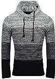 Carisma Herren - Strickpullover 7396 Streetwear Menswear Autumn/Winter Knit Knitwear Sweater CRSM CARISMA Fashion,  XL, Black