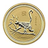"1 oz Australien 2004 Lunar I ""Year of the Monkey"" (Affe) 1 Unze 999,9 Gold"