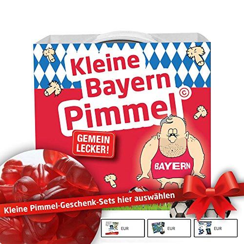 Münchner Kleine Pimmel | Gemein leckere Fruchtgummi für FCB-Fans, inklusive Messlatte zum Lachen & Vergleichen | Dortmund, Schalke & alle Fußball-Fans Aufgepasst, so schön kann Fußball Sein