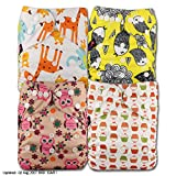 LittleBloom Bébé Tissu Couche Couches Lavables Poches Réutilisable, Fixation: POPPER, Lot De 4