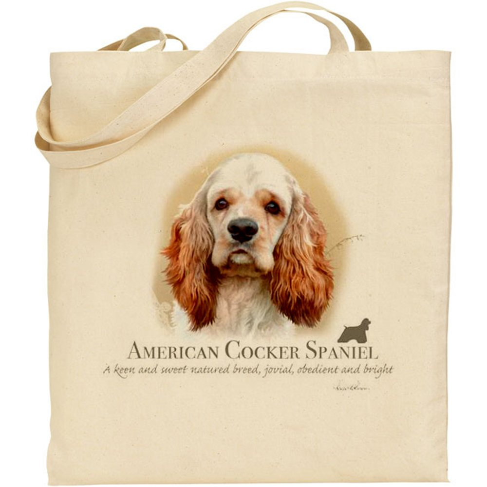 Howard Robinson American Cocker Spaniel Dog Cotton Natural Bag