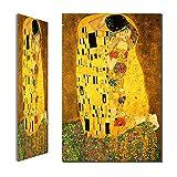 Artista Classico Gustav Klimt Bacio Pittura A Olio Astratta Su Tela Stampa Poster Parete Moderna Immagini Per Soggiorno (Nessuna cornice,70x100cm) (Nessuna cornice,70x100cm) (Nessuna cornice,70x100cm)