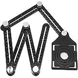 Multi-hoek liniaal Verstelbare vouw Angleizer Template Tool Boorgeleider Opening Keramische tegel Perforator Locator Set voor