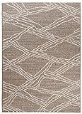 Carpeto Sisal Teppich Taupe 160 x 230 cm Geometrische Muster Flachgewebe Sisal Kollektion