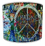 Premier Lighting 12 Inch Ceiling Hippie Peace and Love lampshades9