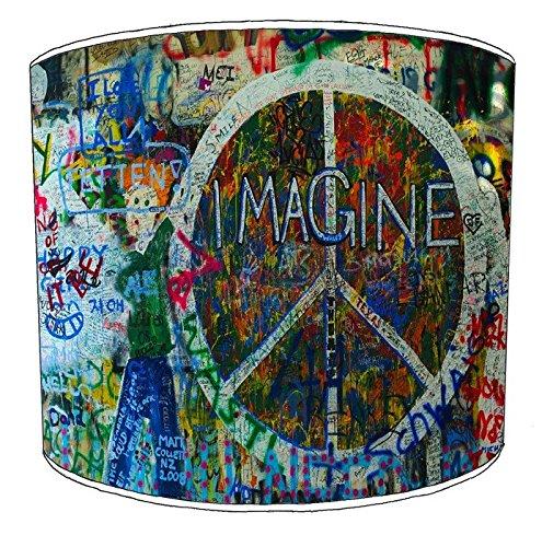8pulgadas techo Hippie Paz y Amor lampshades9, 30,5 cm