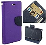 Casecraft Micromax unite 3 q372 Flip Cover Case Wallet Style Cover (Purple)