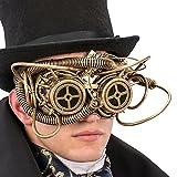 Carnival Toys 1765Máscara Steampunk Medio Viso, dorado, talla única