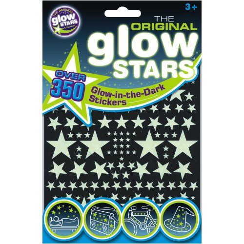 The Original Glowstars - Stickers Phosphorescents, 350 Pièces - Version Anglaise
