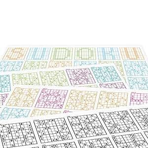 Sudoku PP5156 Sets de Table 4 x 12 Feuilles Papier Multicolore 42 x 29,7 x 1 cm