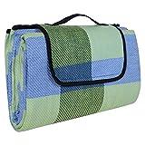 Songmics® 195 x 150 cm Wasserdichte Picknickdecke Campingdecke Stranddecke Mit Tragegriff GCM50C