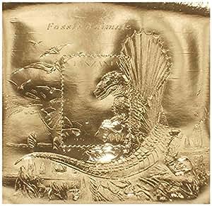 Timbres de feuilles d'or 22 carats - Monnaie et neuf feuille d'or timbre feuillet de la collection de dinosaures animaux fossiles