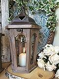 Bois et Métal Lanterne Vintage Bougie Lumignon Holder Jardin Décoration de mariage