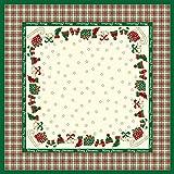 Sovie Home Linclass® Airlaid Tischdecke 80x80 cm Amy / Mitteldecke stoffähnlich / praktisches Einmal-Tischtuch /Weihnachten (Grün-champagner)